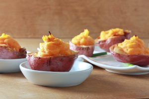 Two Tone Stuffed Potato Cups