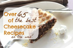 over 65 of the best cheesecake recipes on the web on Overtimecook.com