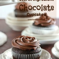 Secret Ingredient Chocolate Cupcakes with Chocolate Sour Cream Frosting