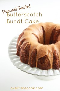Buterscotch Bundt Cake on Overtime Cook