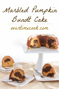 Marbled Pumpkin Bundt Cake with Brown Sugar Glaze
