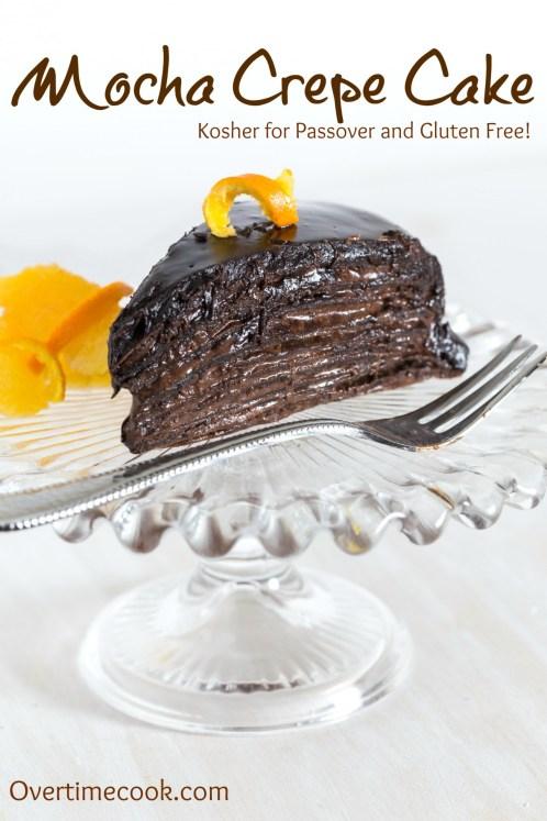 gluten free mocha crepe cake