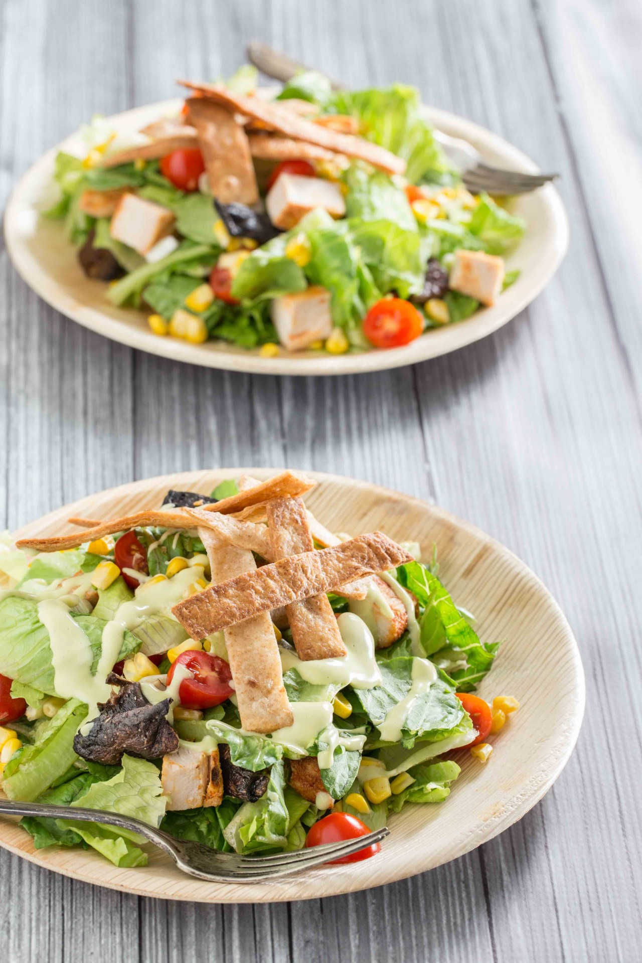 ... Chicken and Corn Salad with Creamy Avocado Dressing - Overtime