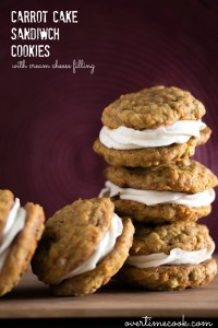 Carrot Cake Sandwich Cookies with Cream Cheese Filling