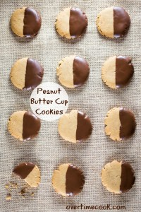 peanut butter cup cookies on OvertimeCook.com