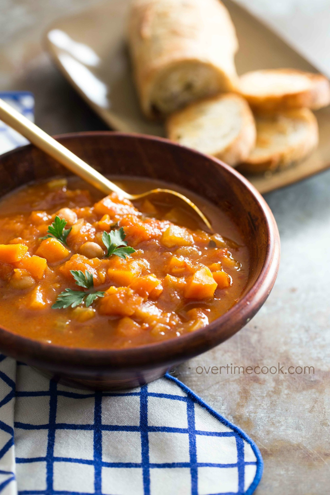 Hearty Autumn Vegetable Soup - Overtime Cook