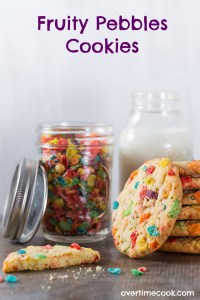 Fruity Pebbles Cookies from Something Sweet
