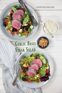 Garlic Basil Steak Salad