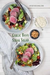 Garlic Basil Steak Salad