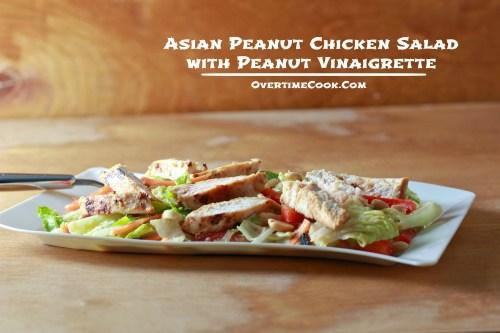 Asian Peanut Chicken Salad on OvertimeCook