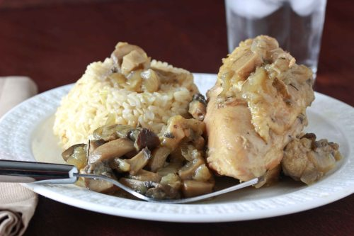 chicken with mushroom sauce 1