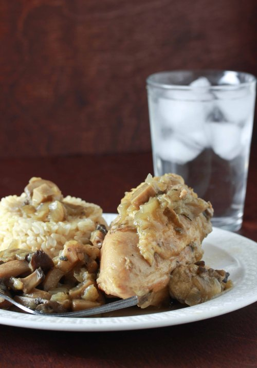chicken with mushroom sauce 2