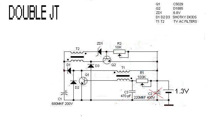 re second stage joule thief circuits