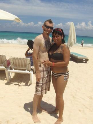 Shaun and Erica at Playa del Carmen