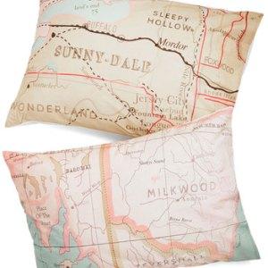 map pillowcase
