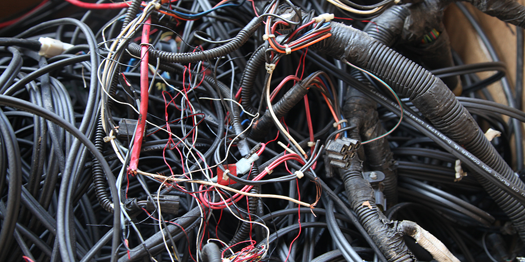 Auto Wire Harness Recycling at Owl Metals Inc 410-282-0068