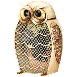 Owl Figurine Fan Home Decor Decorative