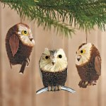 Brushy Owl Ornaments (Great Horned Owl Outdoor Statue 80053)