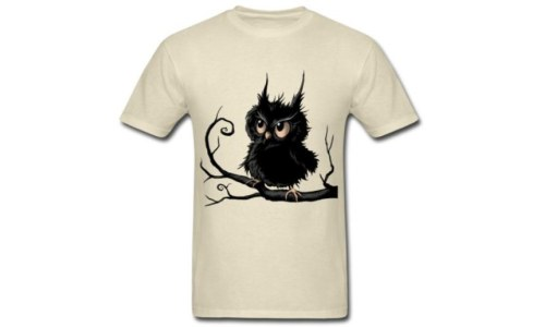 Stylish Grumpy Fogy Owl T-Shirt