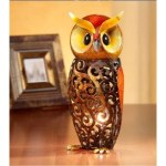 Deco Flair Owl Figurine Light Luminary Owl Lamp (Deco Flair Owl Figurine Light Luminary Owl Lamp)