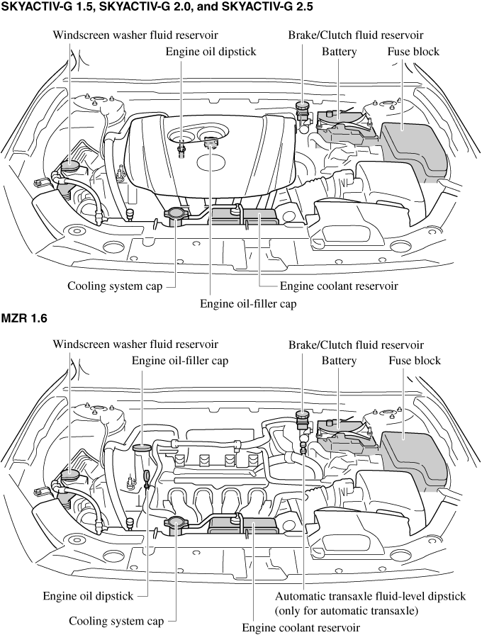 engine diagram for 2006 mazda3