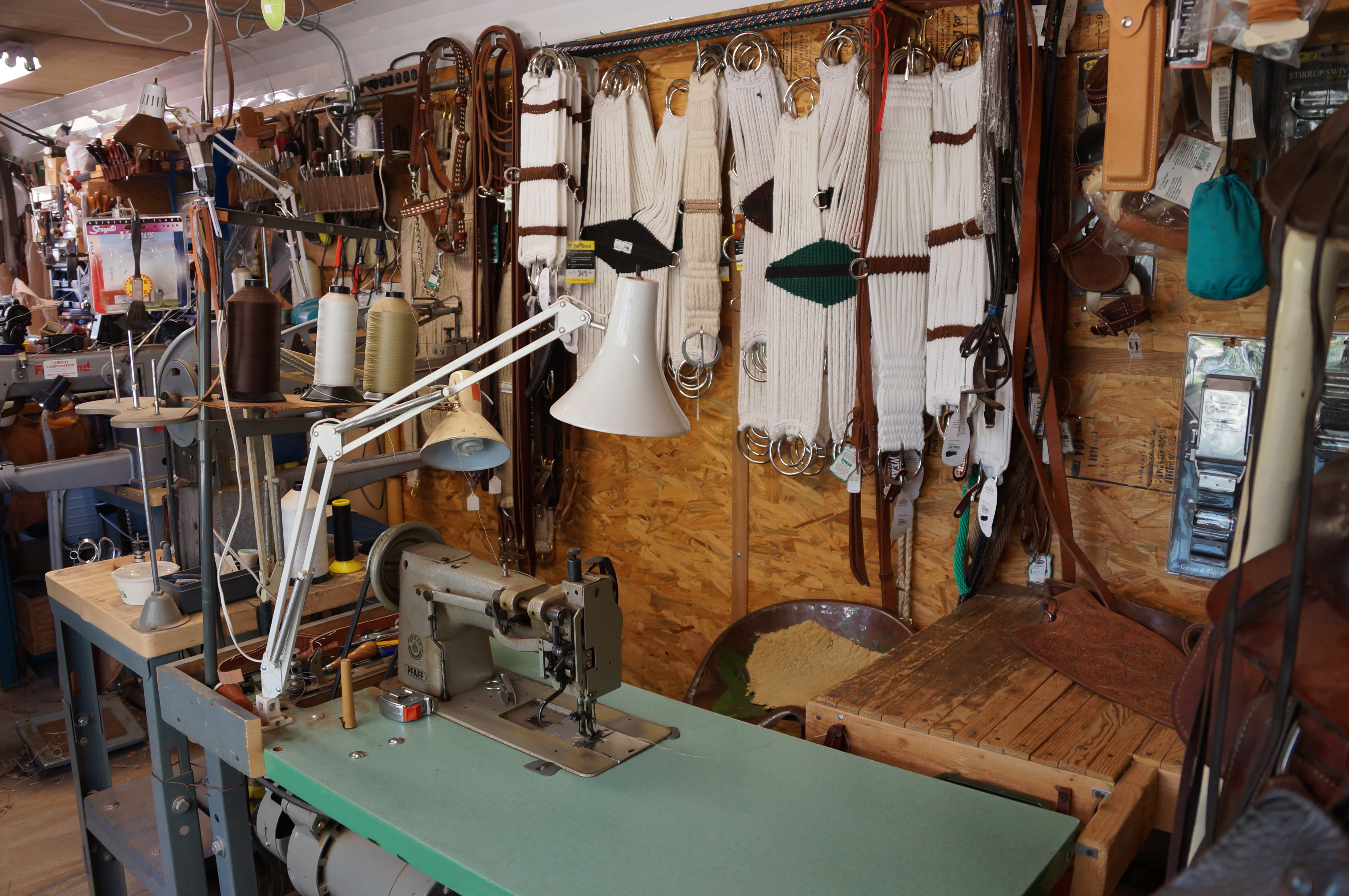 Leather Shop Shop Interior O W Saddles Custom Saddles Leather Work And