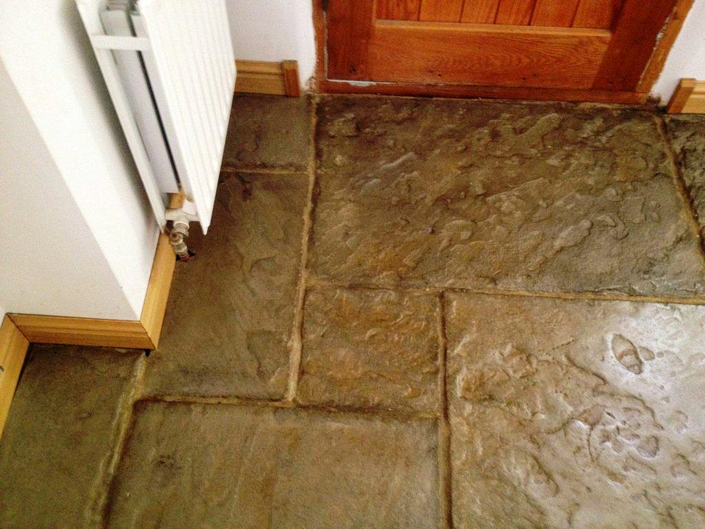 How To Clean Slate Countertops Cleaning Old Slate Flagstones Tiles In Banbury