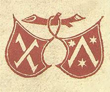 Ex-libris de Schoeffer, o primeiro a ser usado para identificar o impressor