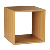 NEW! 1 Tier Storage Cube Wooden Shelf Bookcase Shelving ...