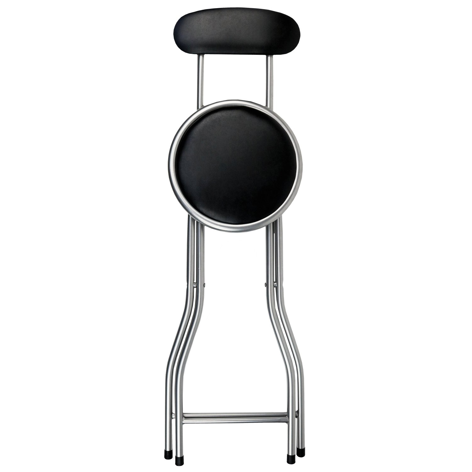 Padded Stool New Black Padded Folding High Chair Breakfast Kitchen Bar