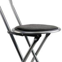 NEW! Black Padded Folding High Chair Breakfast Kitchen Bar ...