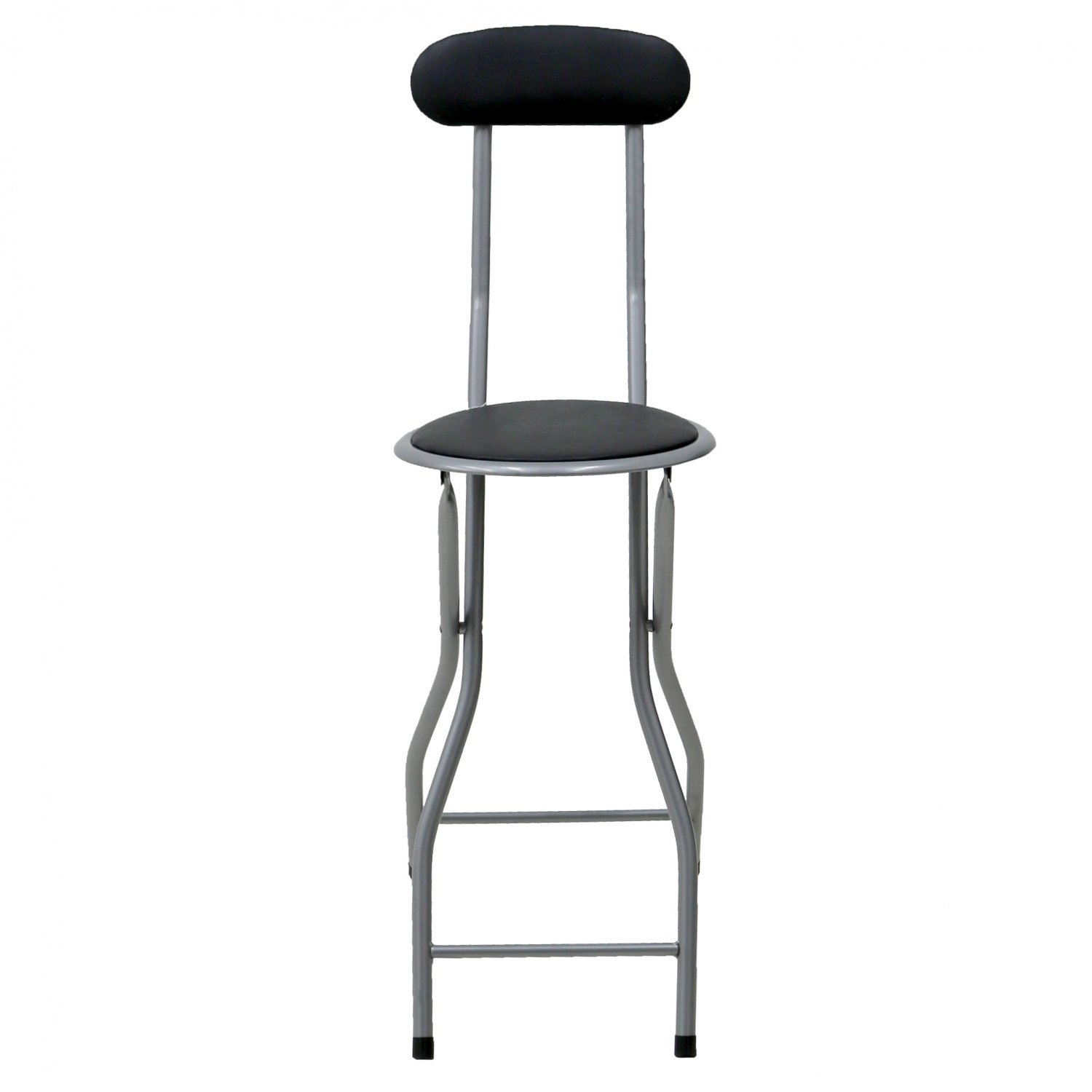 Padded Stool Black Padded Folding High Chair Breakfast Kitchen Bar