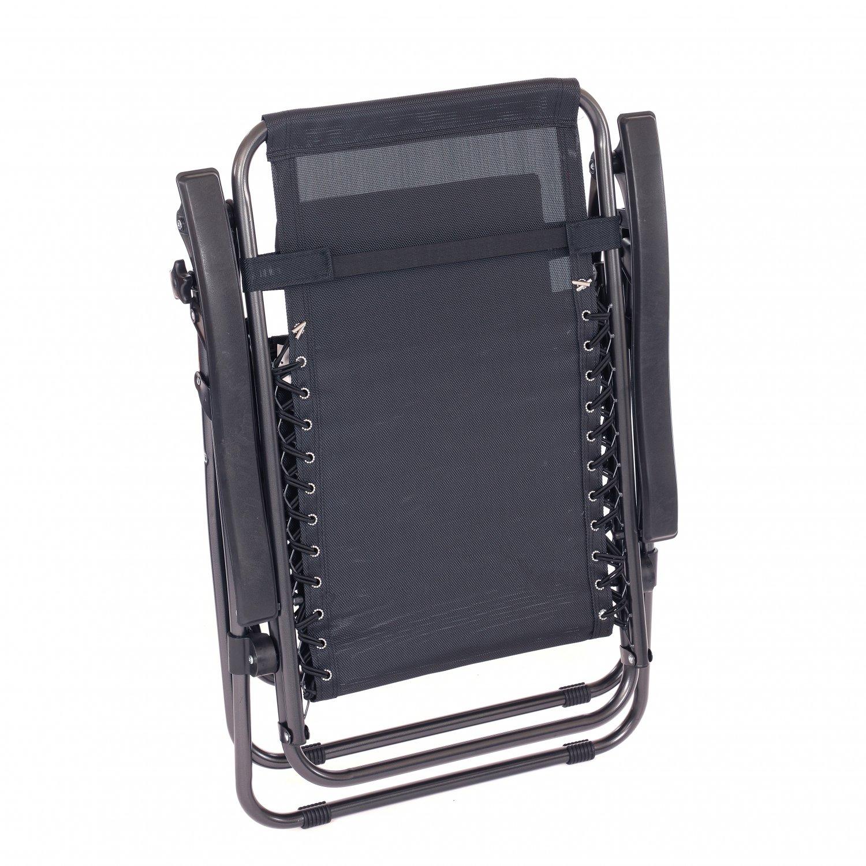 Folding Reclining Garden Deck Chair Sun Lounger Zero