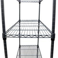 4 Tier Heavy Duty Steel Wire Rack Kitchen Storage Unit w ...