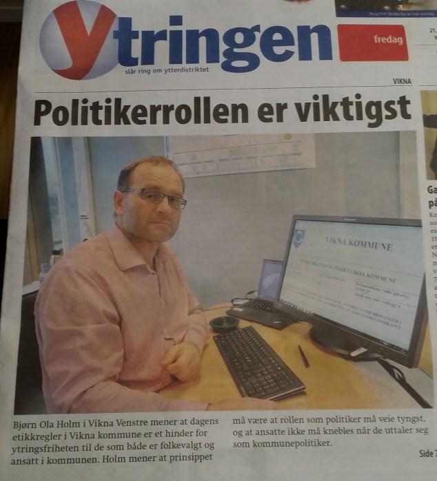 Stian Aakre fra Nærøy Sentrerparti snakk litt om raushet i sitt innlegg, men hans parti inntar jumboplassen på mitt raushetsbarometer denne gangen!