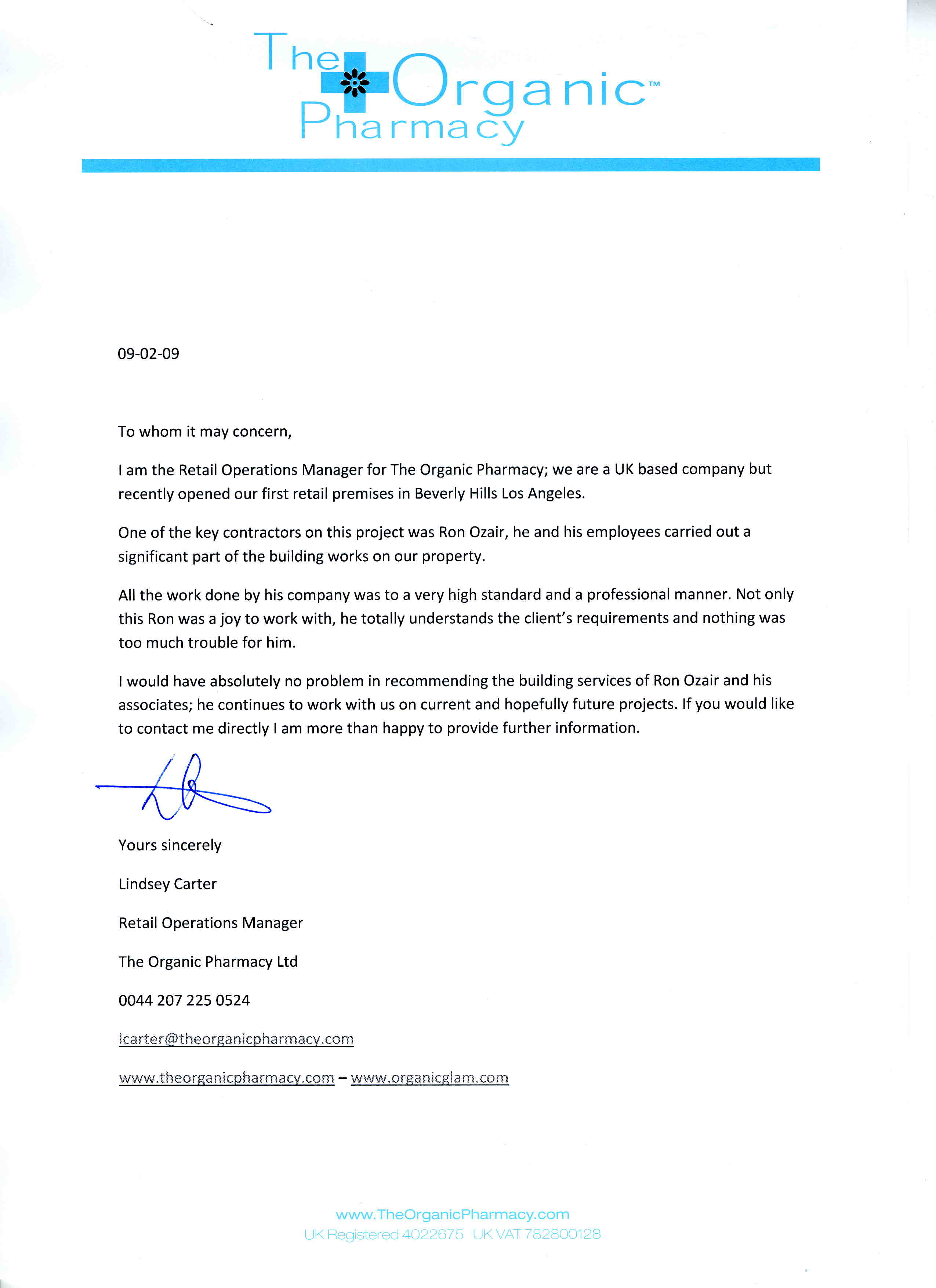 Recommendation Letter Sample For Clinical Pharmacist Retail Pharmacist Recommendation Letter