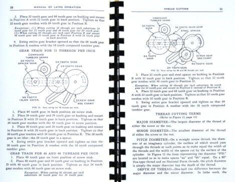 Atlas Craftsman Manual of Lathe Operation Book for 12\ - operation manual