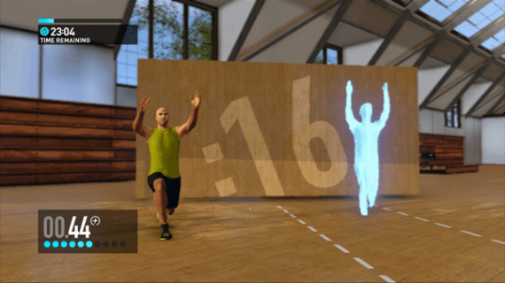 Screenshot of a workout in the Nike+ game