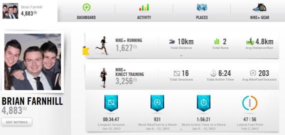 Nike+ website