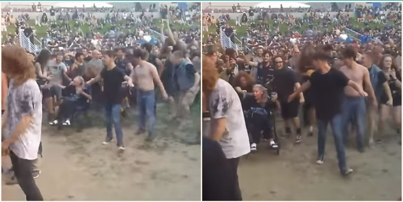 Elderly Slayer Fan Experiences First Mosh Pit From Her
