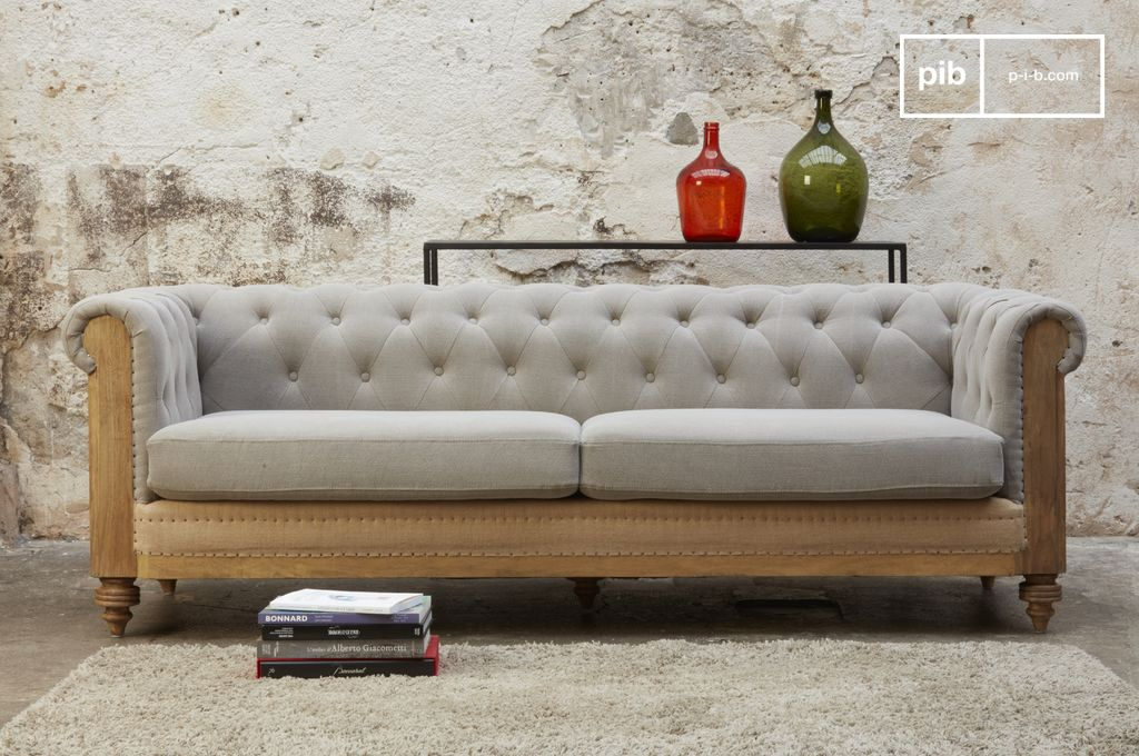 Chesterfield Sofa Espana Sofá Chesterfield Montaigu Grande Gris | Pib