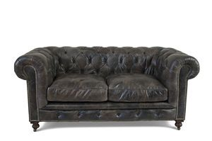 Divano Chesterfield Scuro A 3 Posti Stile Country Pib - Divano James B Flexteam