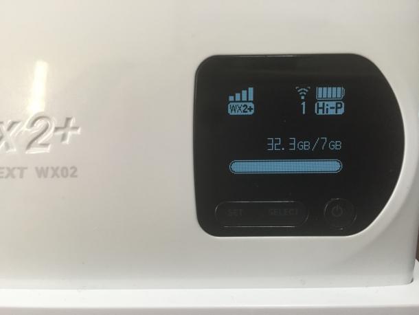 7日間で利用したWiMAX2+の通信量