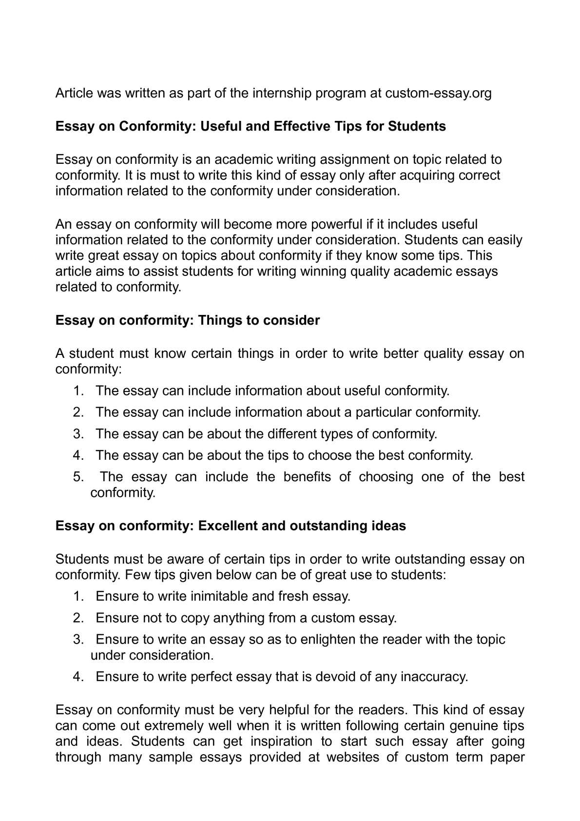 Calameo Essay On Conformity Useful And Effective Tips