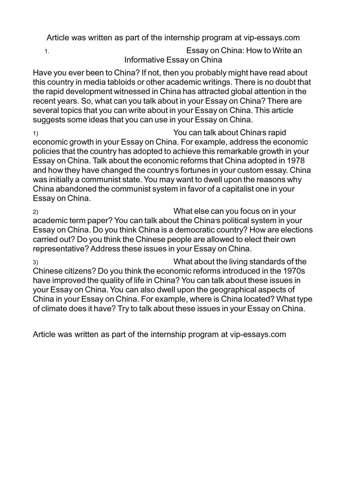 Calameo Essay On China How To Write An Informative