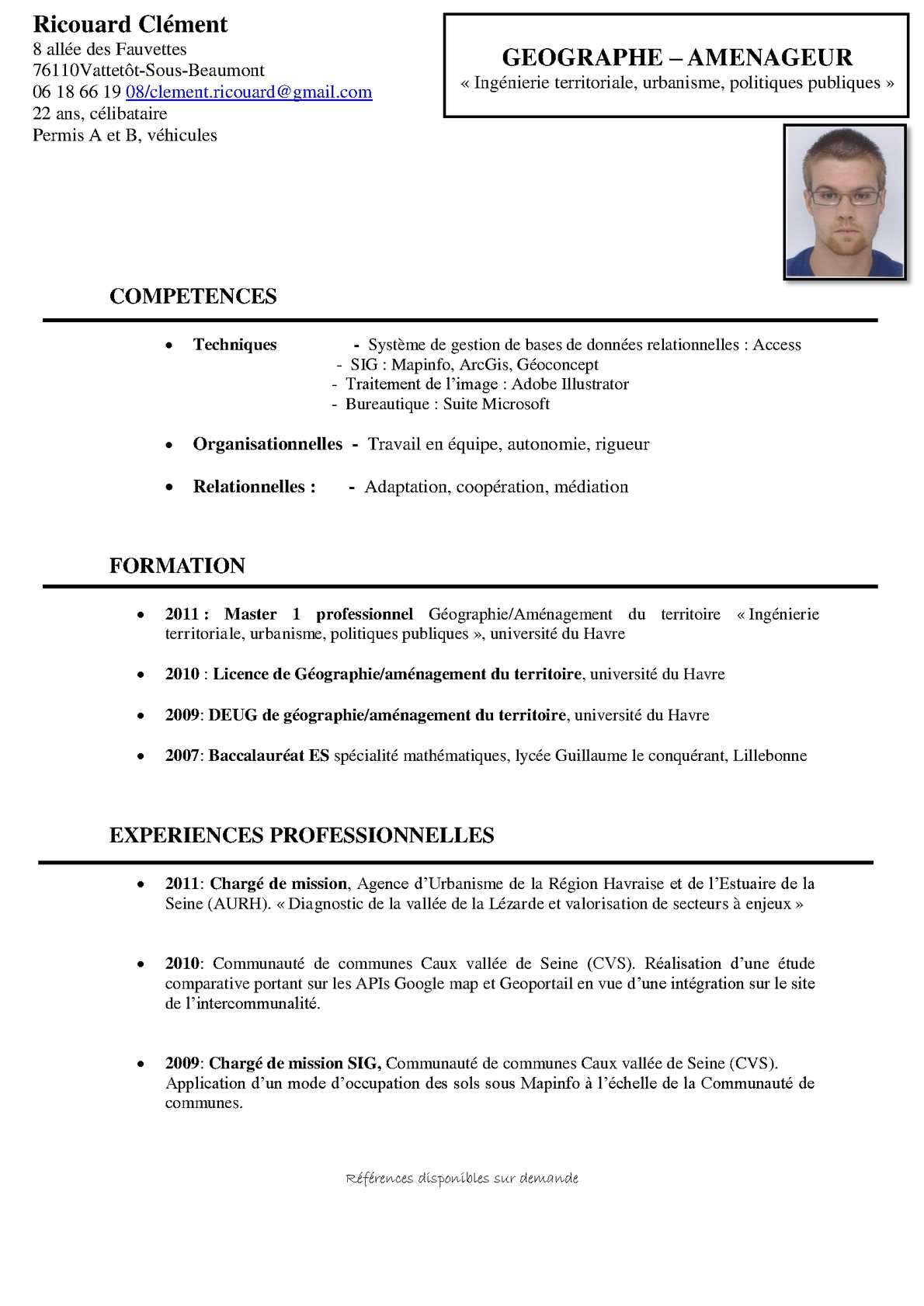 exemple competences relationnelles cv