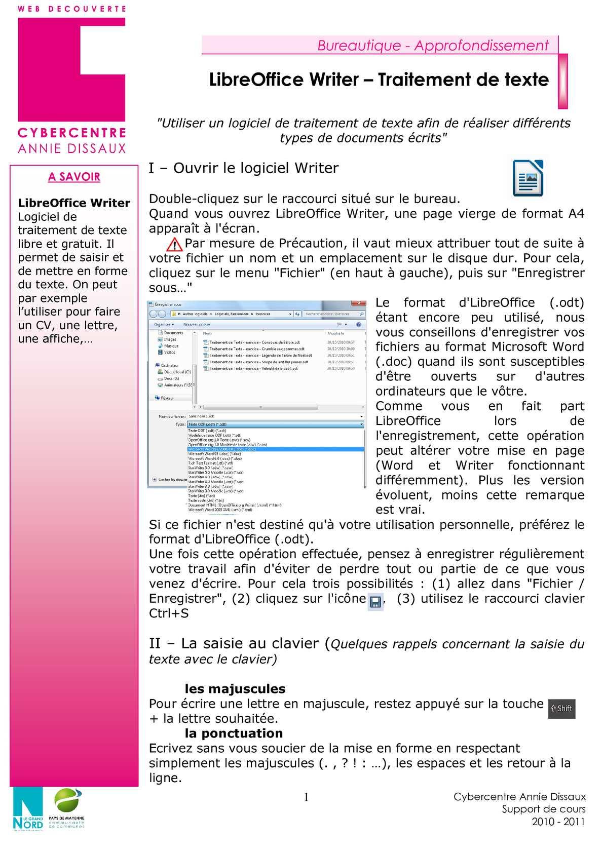 logiciel traitement de texte cv gratuit