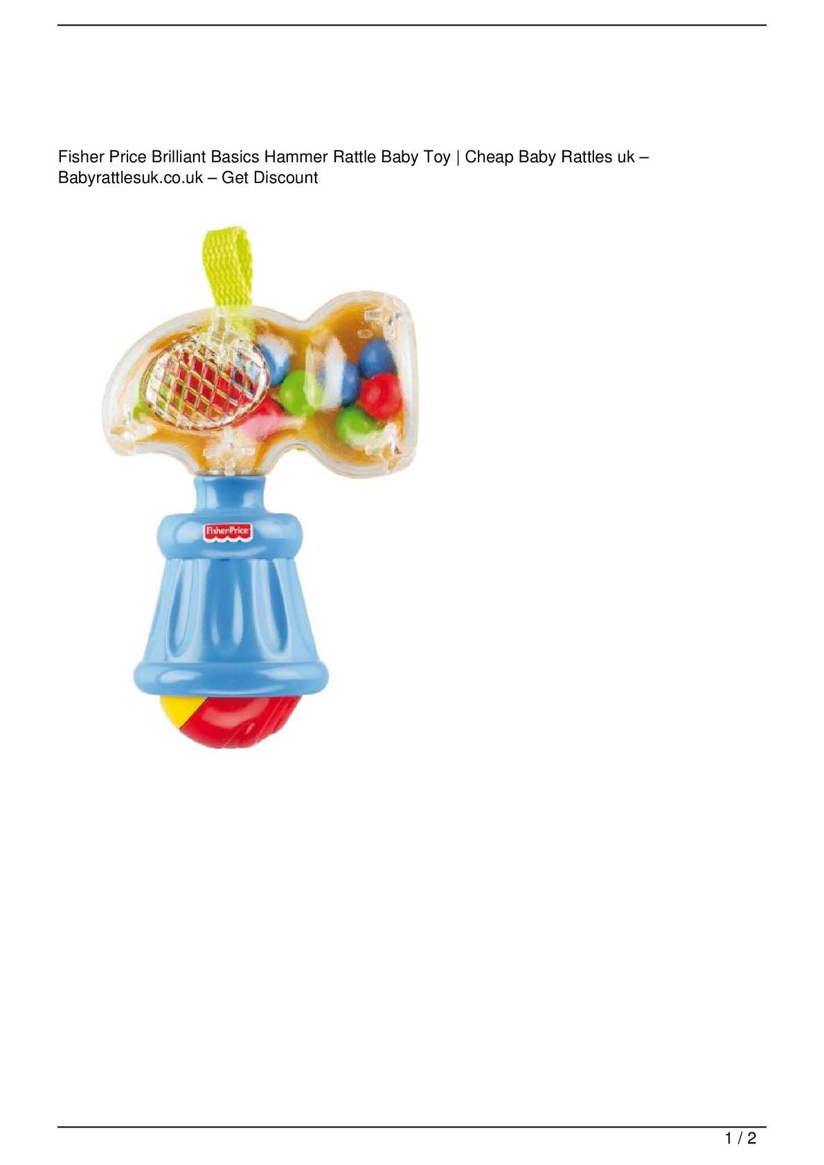 Baby Toys Sale Calaméo Fisher Price Brilliant Basics Hammer Rattle Baby