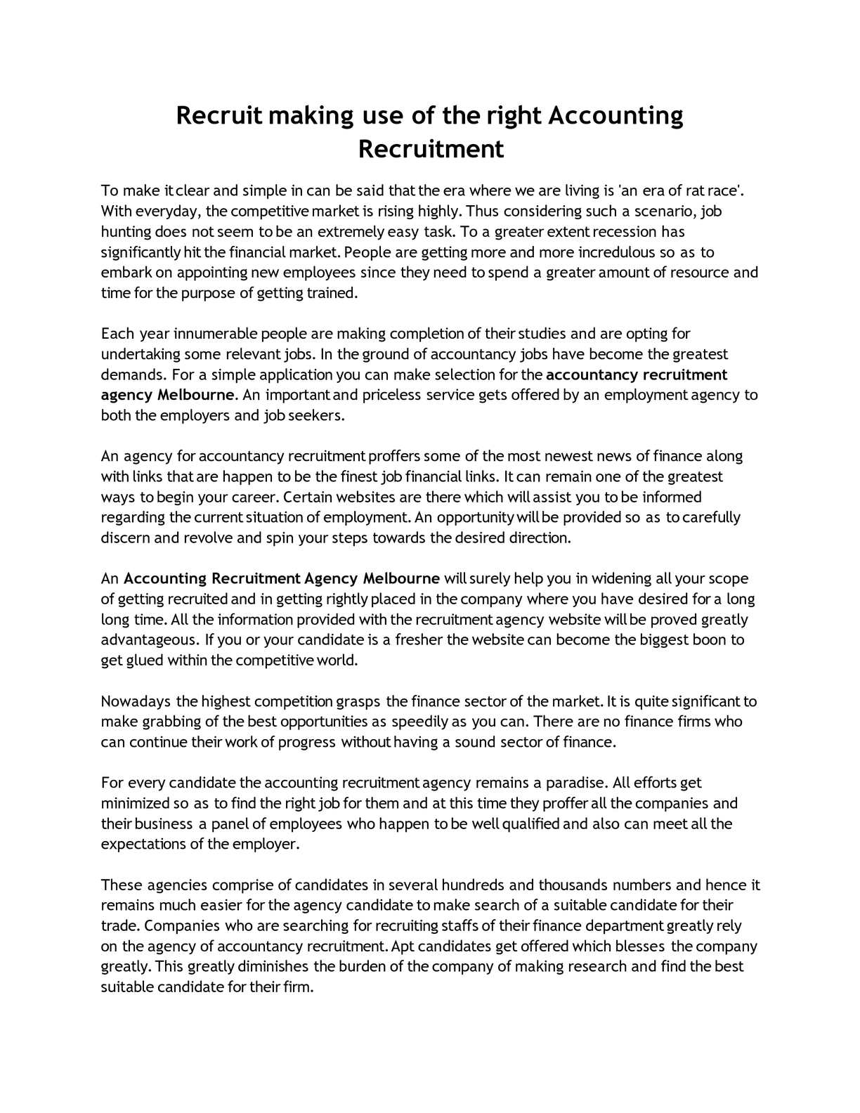 Accountancy Recruitment Agencies Calaméo Recruit Making Use Of The Right Accounting Recruitment