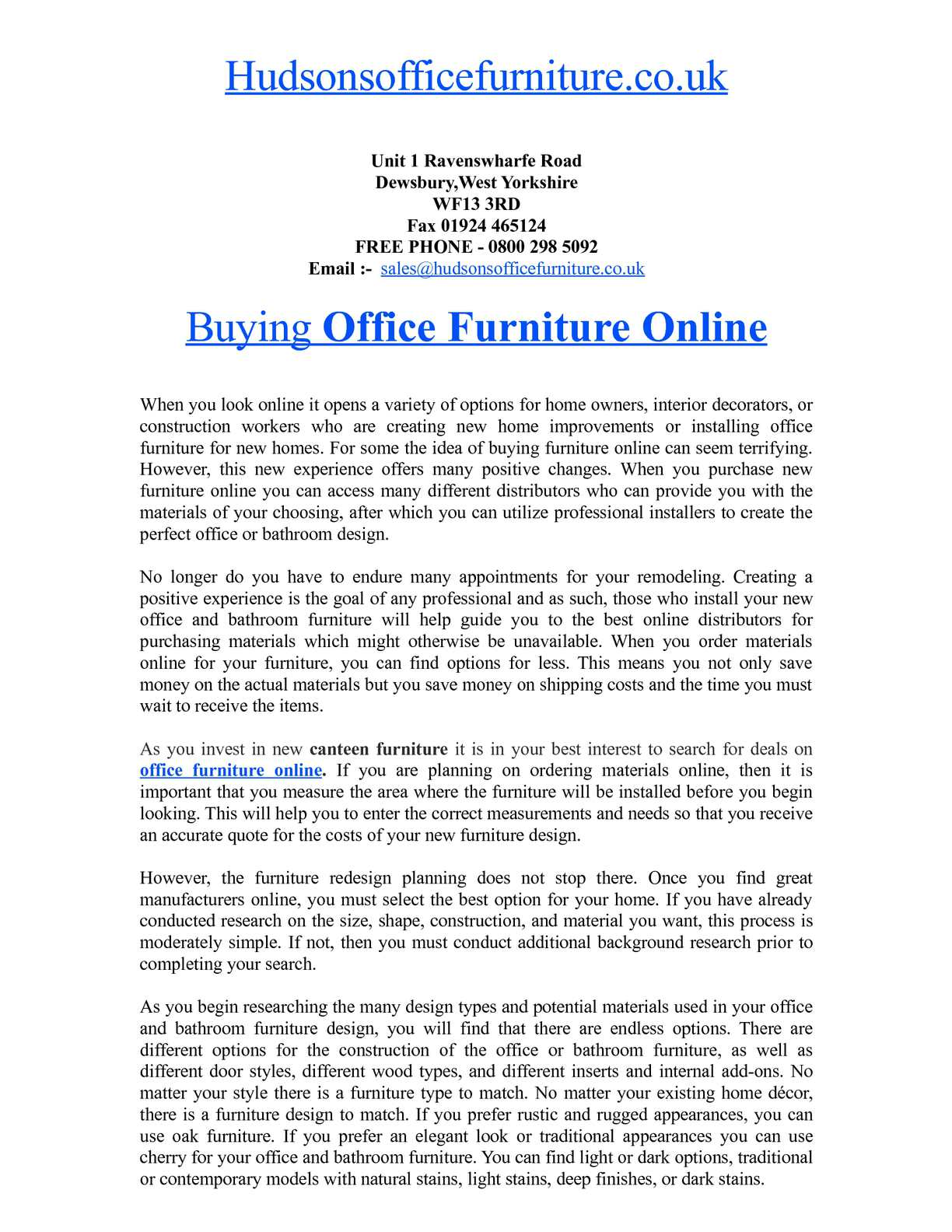 Calaméo Buying Office Furniture Online